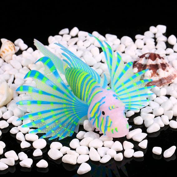 Aquário Peixe Fluorescência Ornamentos 3d Aquário Peixe S