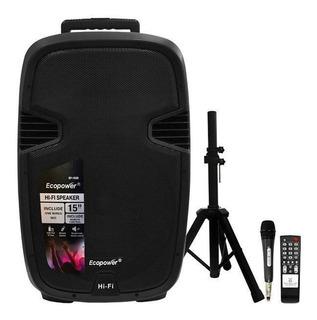 Parlante Bluetooth Port. Ecopower-sd/usb/bluetooth/karaokê