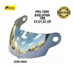 Viseira Capacete Pro Tork 788 G3,g4,g5,g6 Espelhada