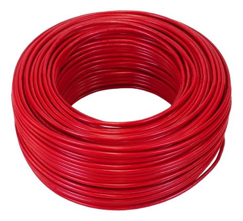 Cable Thw Cal. 10 Conductor Cobre Pvc Rollo 100m (rojo)