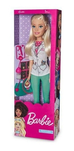 Imagem 1 de 2 de Boneca Barbie Veterinaria 65cm Profissões Large Doll Grande