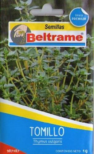 Semillas De Tomillo Aromatica Beltrame 1g Huerta
