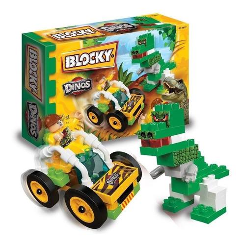 Bloques Blocky Dinosaurios X 65 Piezas Con Muñeco