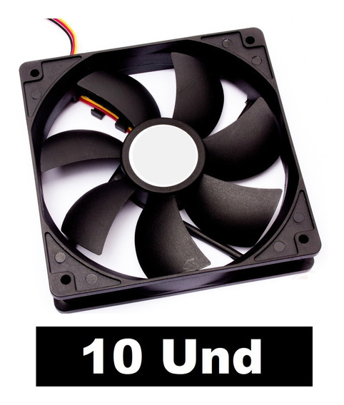 Kit 10 Fan Cooler 120x120x25 Micro Ventilador 12v 120mm