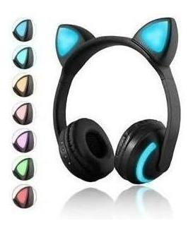 Fone Bluetooth Orelha De Gato Com Led + Brinde