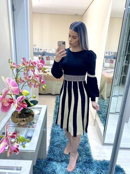 Vestido Modal Tricot Manga Longa - Jéssica