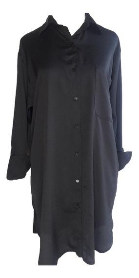 Camisa Vestido Mujer Larga Razada Moda Las Antonias La5005