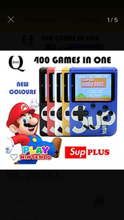 Mini Consola Super Nintendo Retro Tipo Game Boy 400 Juegos