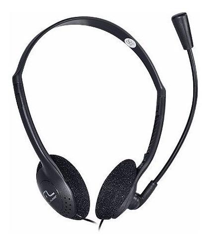 Imagem 1 de 1 de Fone De Ouvido Multilaser Headset Estéreo C/ Fio Preto