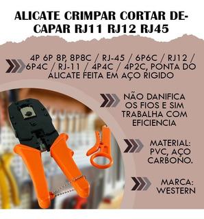 Alicate Crimpar Cortar Decapar Rj11 Rj12 Rj45 Profissional
