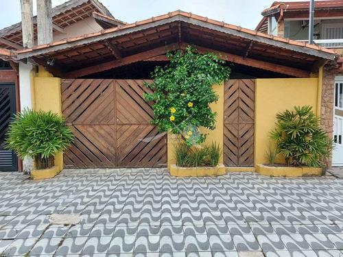 Imagem 1 de 21 de Casa Em Praia Grande, Com Edícula ,forte - V5527