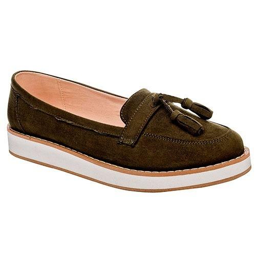Zapato Urbano Dama Been Class 10832 Olivo 23-26 *079-966 T4