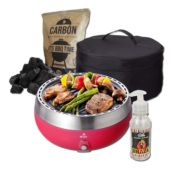 Mr. Grill - Grillerette Red Deluxe + Carbon + Gel Braza