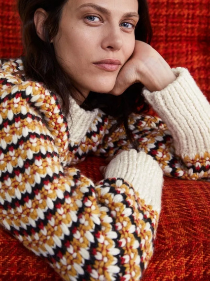 Sweater Zara Knitwear No Jazmín Chebar, Rapsodia