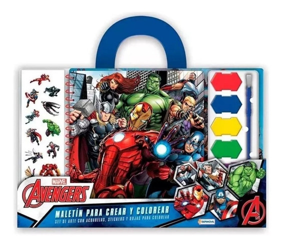 Avengers Set Maletin Para Crear Y Colorear Original Hulk