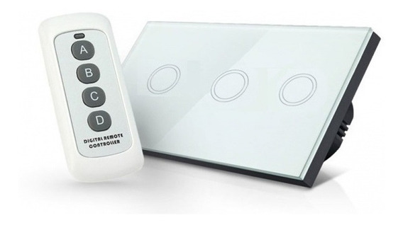 Switch Luz Tactil Wireless Triple Control Remoto Inalambrico
