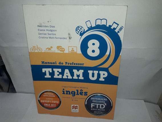 Livro Team Up 8 Inglês Manual Do Professor Reinildes + Cd