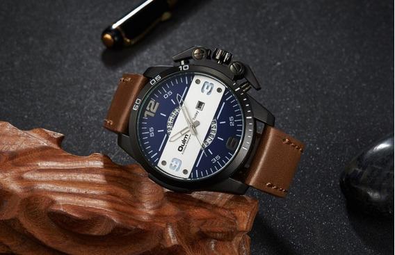 Relógio De Pulso Luxuoso Sofisticado Preto Social Analogico