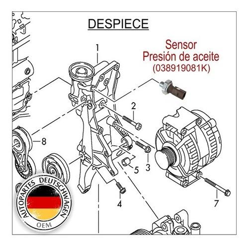 VW Audi cheque primer conmutador de presión de aceite 038919081K Nuevo Original VW Parte