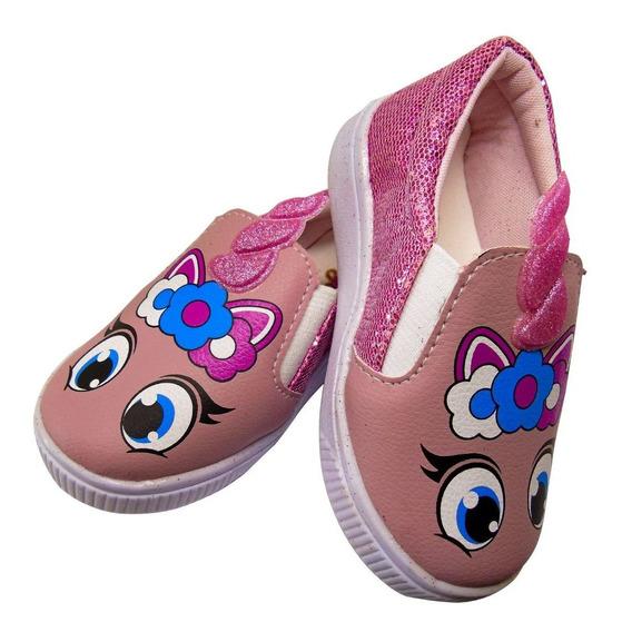 Sapato Infantil Feminino Tema Unicórnio Promoção