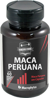 Maca Peruana 100% Pura 500mg 60 Cápsulas - Libido