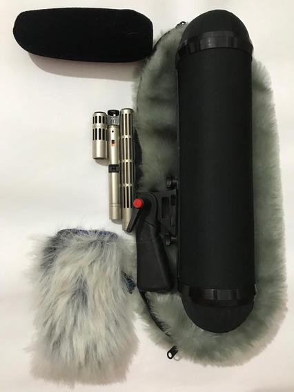 Microfone Sennheiser Shotgun Condensador Me-80+me-40 C/ K3-u