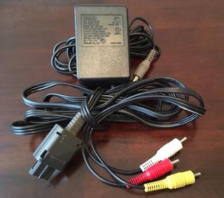 Cargador Energia Y Cable De Audio Y Video De Super Nintendo