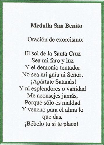 Medalla San Benito Con Cadena Doble Faz Cruz Oración Mercado Libre