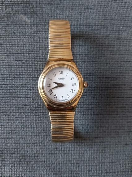 Relógio Swatch Original Antigo Dourado Aço