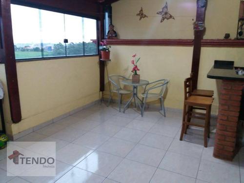 Imagem 1 de 25 de Imob03 - Cobertura 116 M² - Venda - 2 Dormitórios - 1 Suíte - Parque São Vicente - Mauá/sp - Co0076