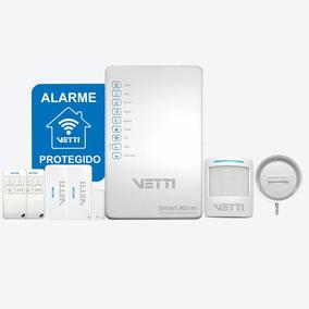 Alarme Vetti Smart Alarm Kit Com Discador Linha Fixa