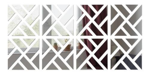 Espelho Decorativo Grande 1,60x0,80m Abstrato Quarto Sala
