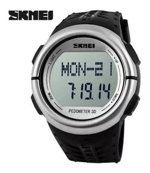 2 Unidades Relógio Skmei Monitor Cardíaco Digital Pedômetro