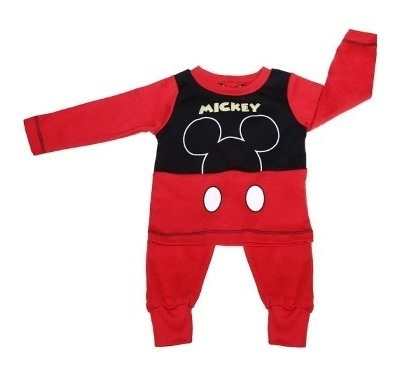 Pijama Bb Ideal Disney Pantalon/camisa Interlok Estampa Mick
