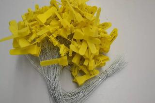 100 Lacres Amarelo Arame Aço Numerados 30cm Viagem Preço