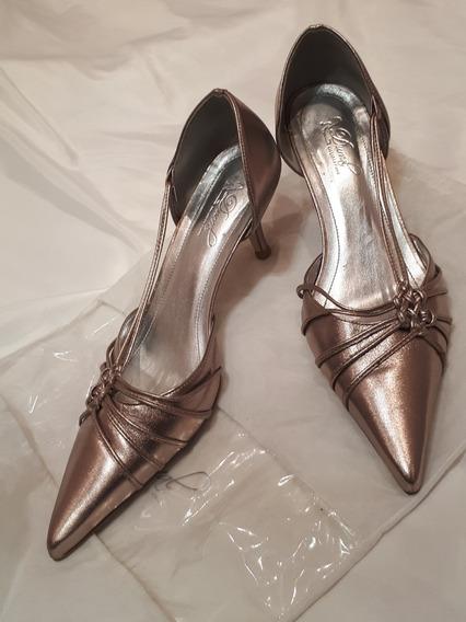 Sapato De Festa Fino Ouro Velho - Durval