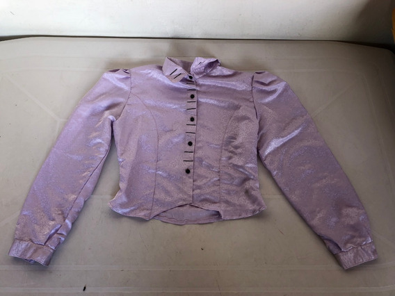 Camisa Lila Arrasada Talle M