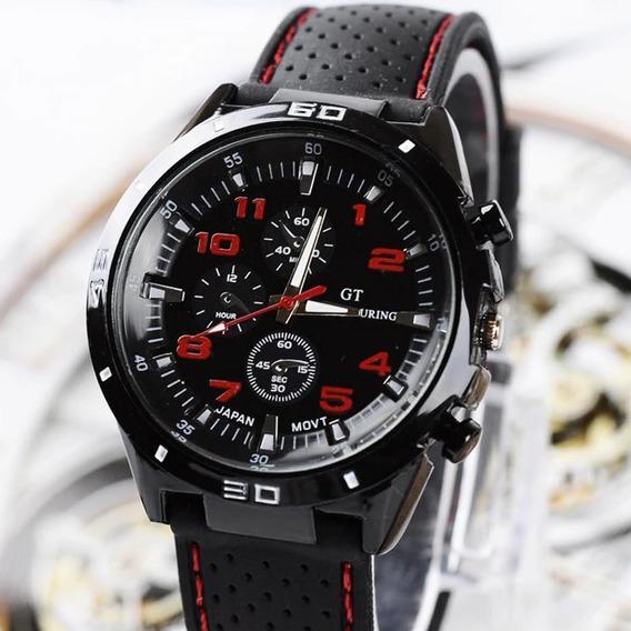 Relógio Masculino Esportivo Pulseira Silicone Pronta Entrega