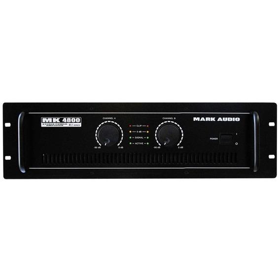 Amplificador Potência Mark Áudio Mk 4800 800w Rms 2 Canais