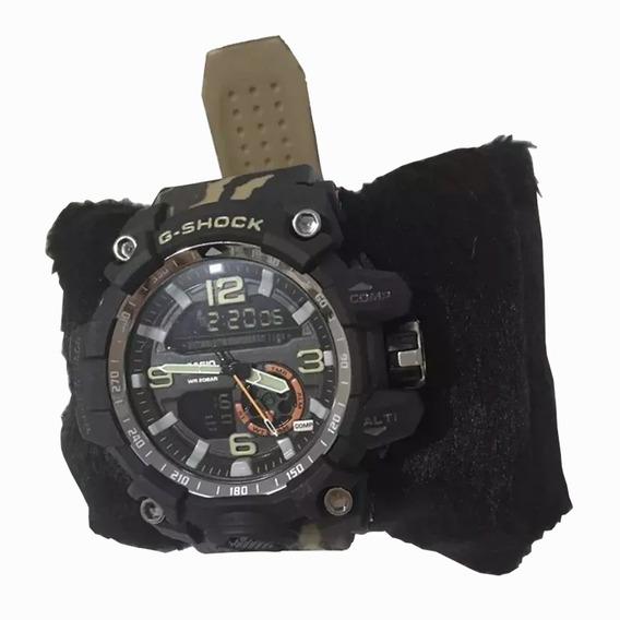 Relógio Masculino Esportivo Militar Camuflado Gs Digital Analógico Pronta Entrega