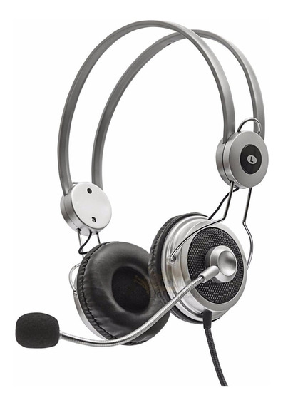 Fone De Ouvido Headphone Stereo Notebook Pc Skype Microfone