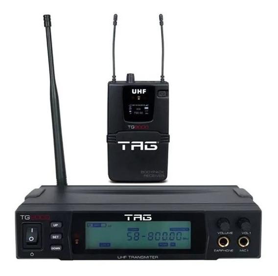 Monitor Tag Sound Sem Fio Tg-9000 Com Receptor Bodypack True