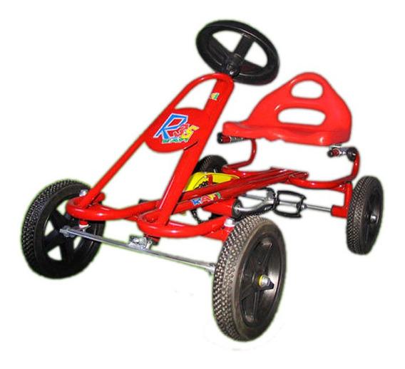 Karting Infantil A Pedal Ruedas Goma Caño Super Reforzado R2