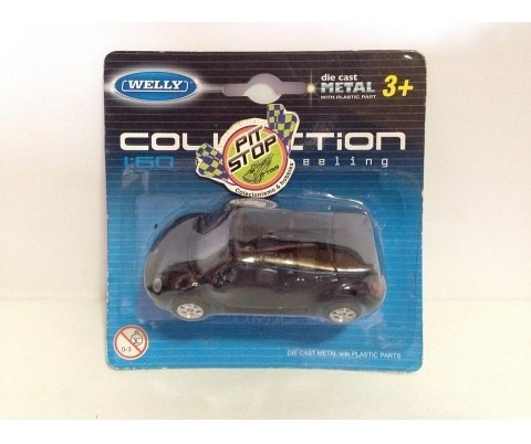 Welly - Vw New Beetle Convertible Preto - Collection