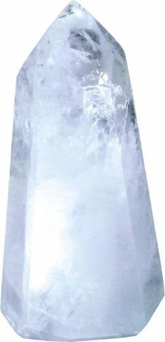 Ponta De Cristal Pedra Quartzo Natural Polida Harmonia E Paz