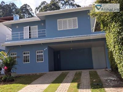 Casa 320m² 4 Dorms Para Locação, Residencial Nove (alphaville), Santana De Parnaíba. - Ca0209