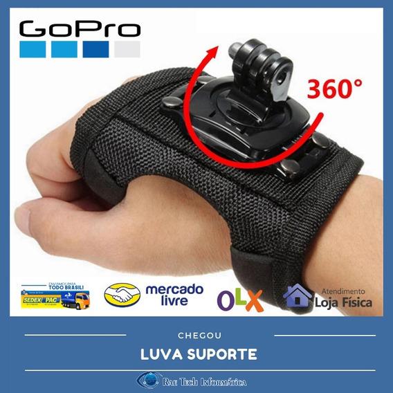 Luva Suporte Alça 360° Mão Pulso Gopro Go Pro Hero 3 4 5 6 7