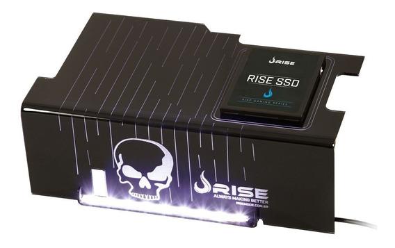 Cover Psu Rise Mode Skull Com Suporte Ssd (rm-cp-02-ca)*novo
