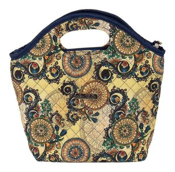 Bolsa Handbag Tecido Mão Feminina Forro Impermeável Prática