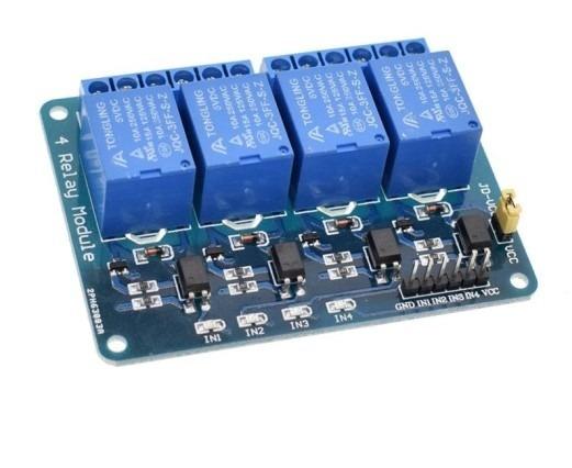 Módulo Relé 4 Canais 5v Arduíno
